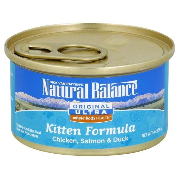 Natural Balance Whole Body Can Kitten Food - Chicken, Salmon and Duck, 3oz, 24 Pack
