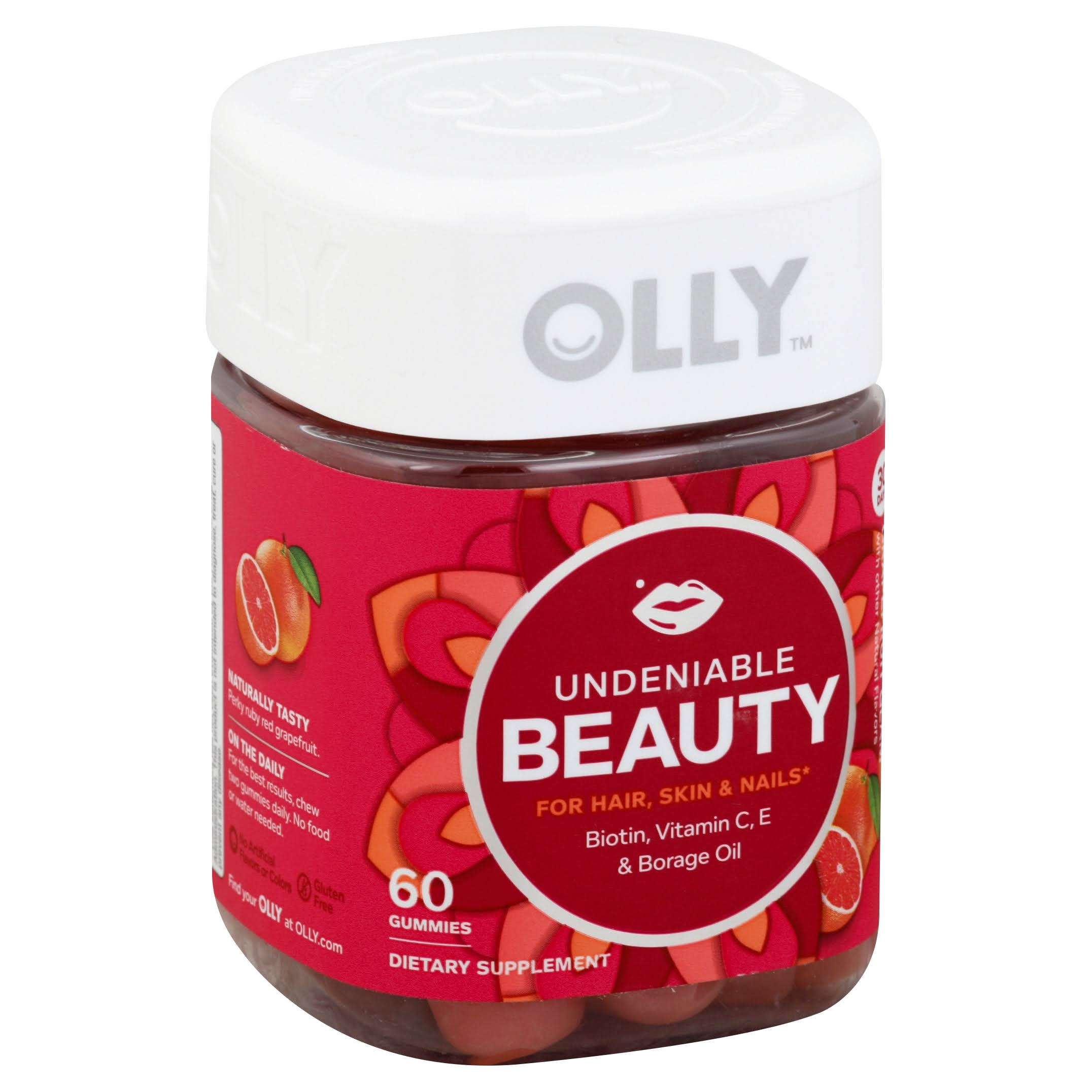 Olly Undeniable Beauty Grapefruit Glam Vitamin Gummies - 60ct