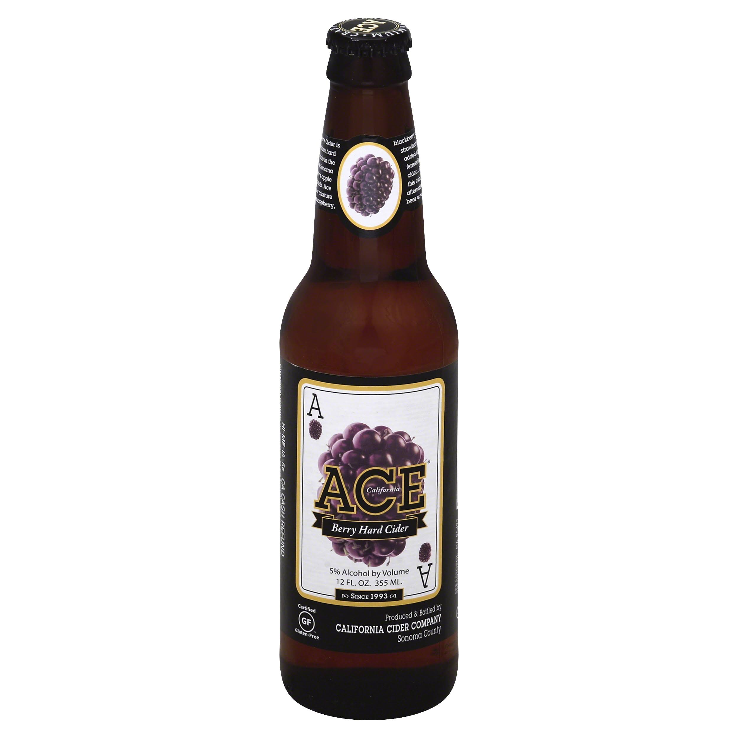 Ace Hard Cider, Berry - 12 fl oz