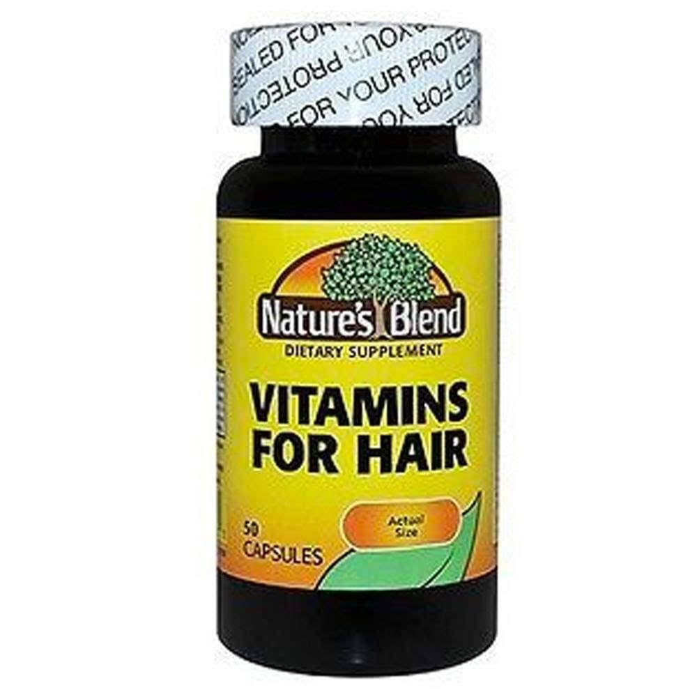Nature's Blend Vitamins For Hair - 50 Capsules
