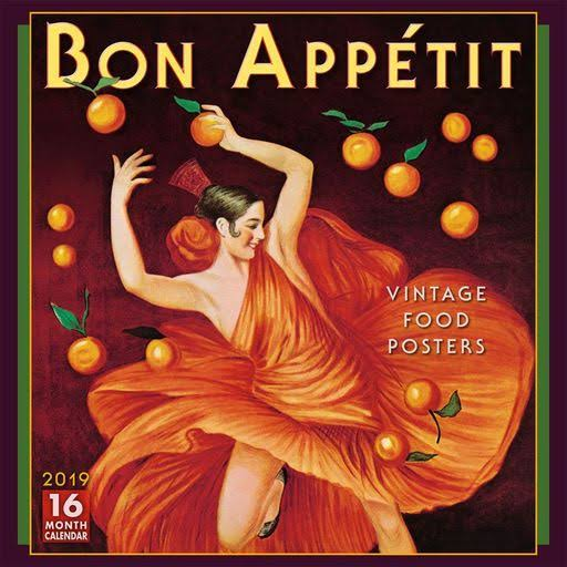 2019 Bon Appetit Wall Calendar, Food Art by Sellers Publishing
