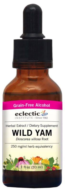 Eclectic Institute Wild Yam Extract Dietary Supplement - 1oz