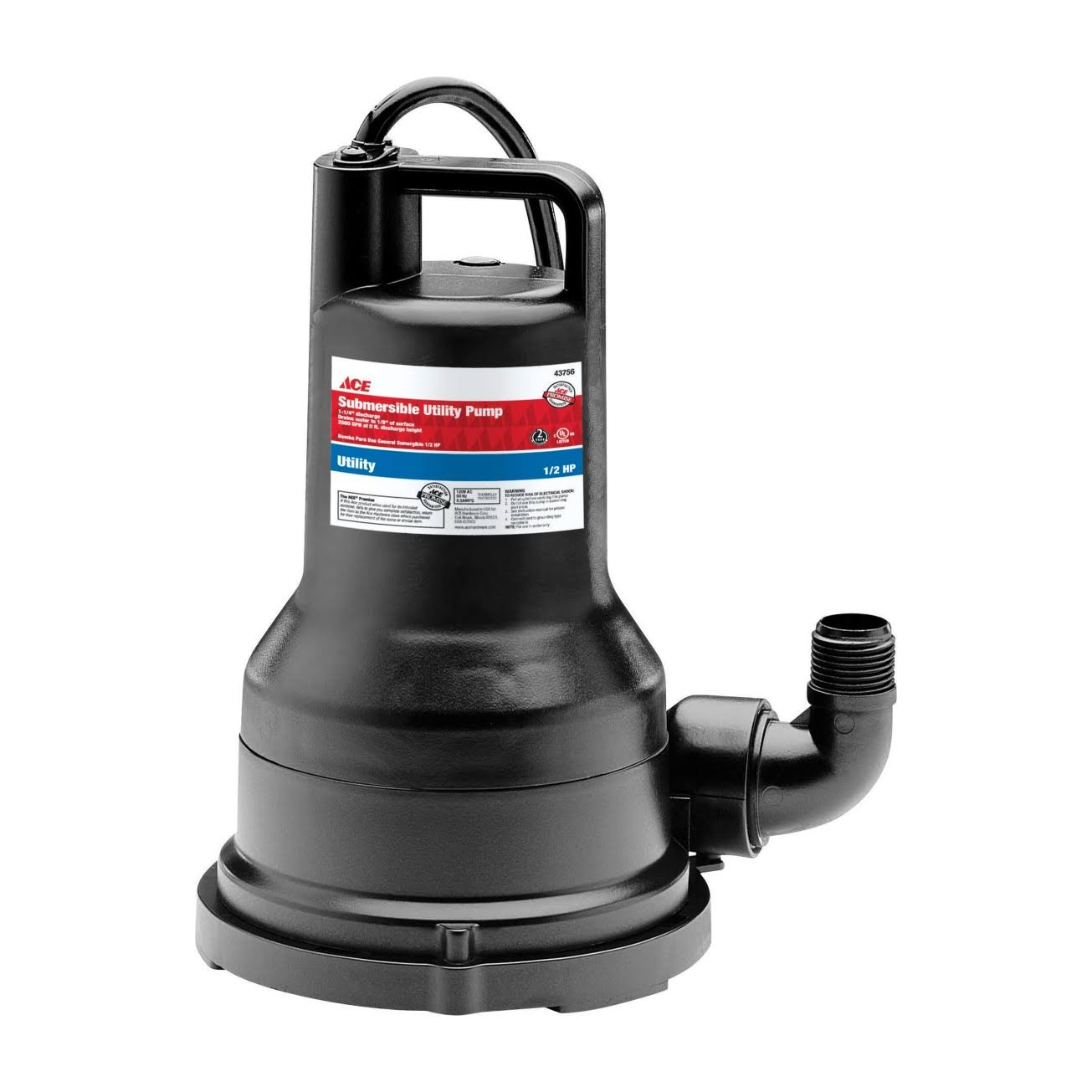 Ace Submersible Utility Pump - 1/2hp