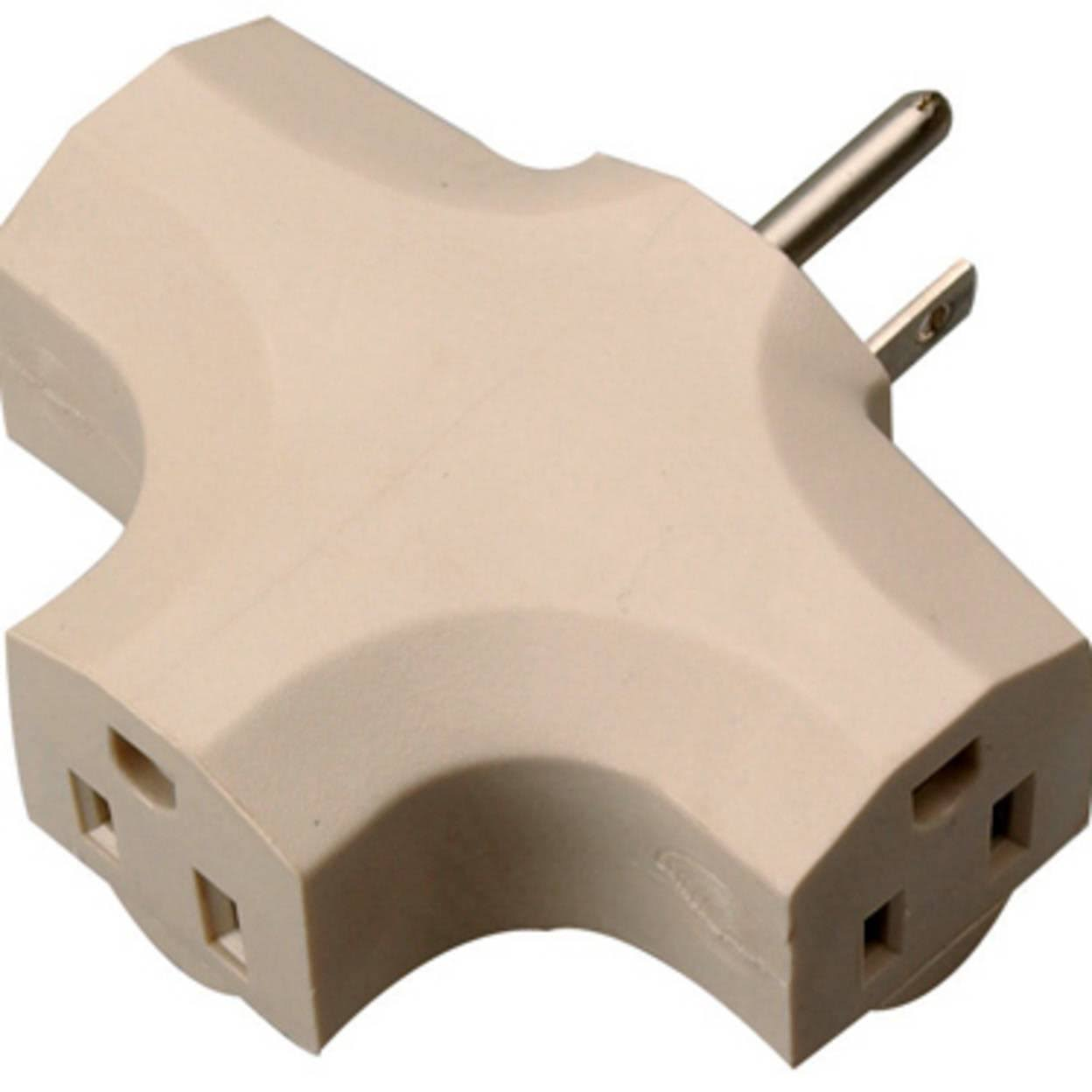 Coleman Cable Heavy Duty 3 Outlet Adapter - Beige