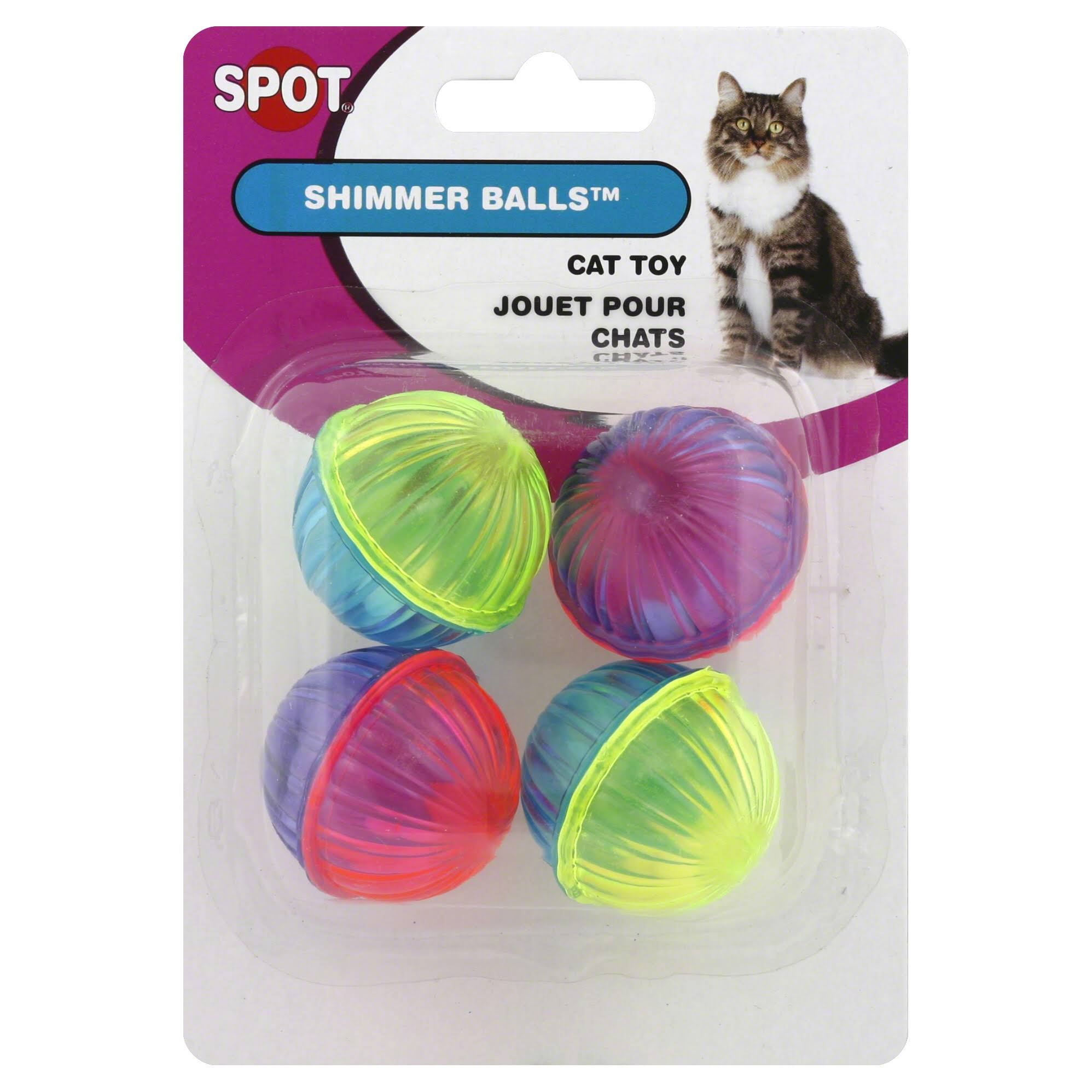 Ethical Cat Shimmer Balls - 4 Pack