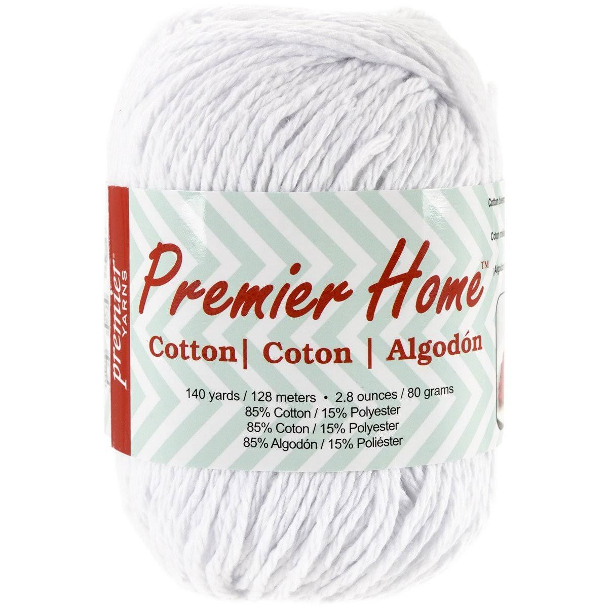 Premier Home Cotton Yarn - Solid White, 140yds