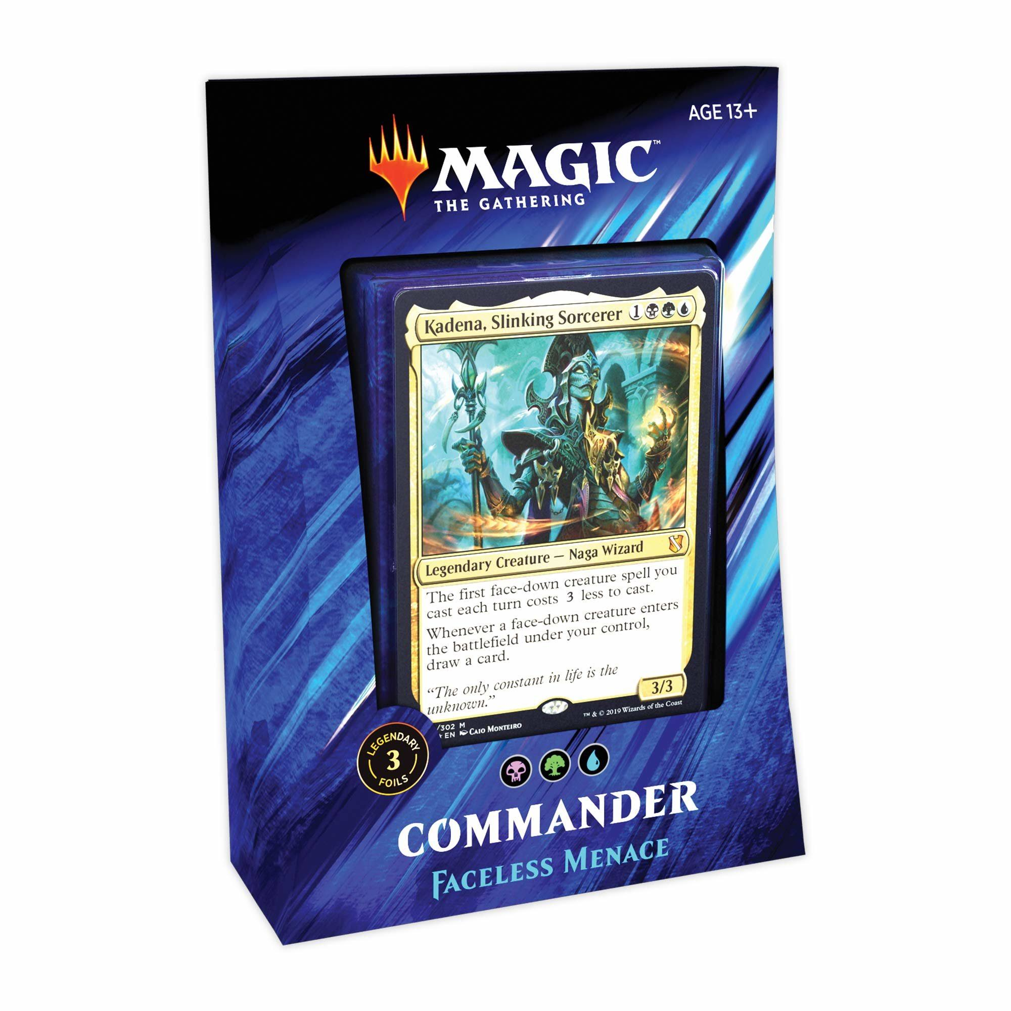 Magic The Gathering: Commander 2019 Deck (Variant: Faceless Menace)