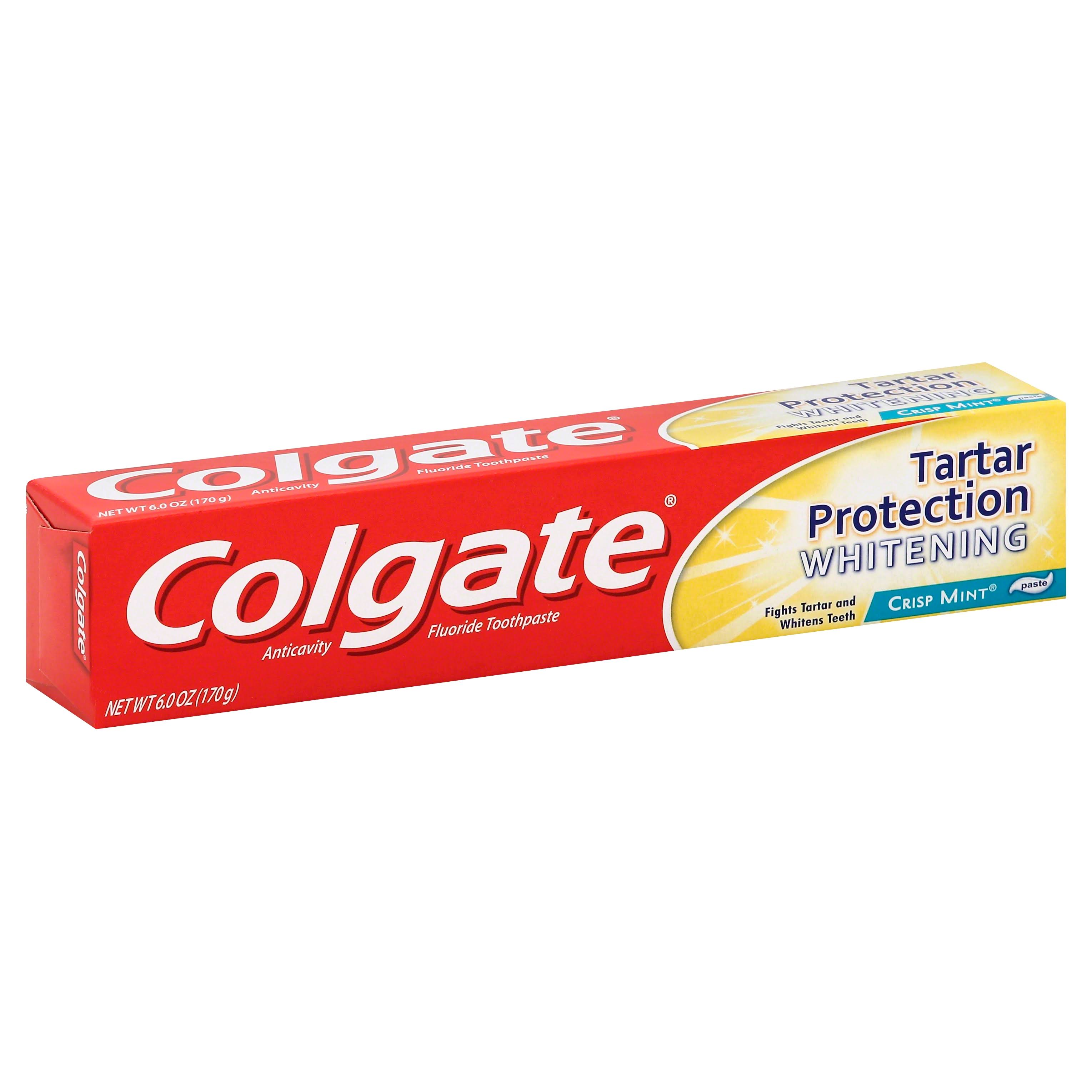 Colgate Tartar Protection Whitening Toothpaste - Crisp Mint, 6oz