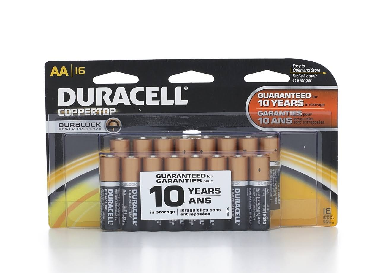 Duracell Alkaline AA Batteries - 16 pack