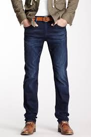 mens slim fit dark blue jeans straight leg trousers spring autumn