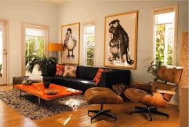 Brown Living Room Decorations by Fall Into Orange Living Room Accents For All Styles