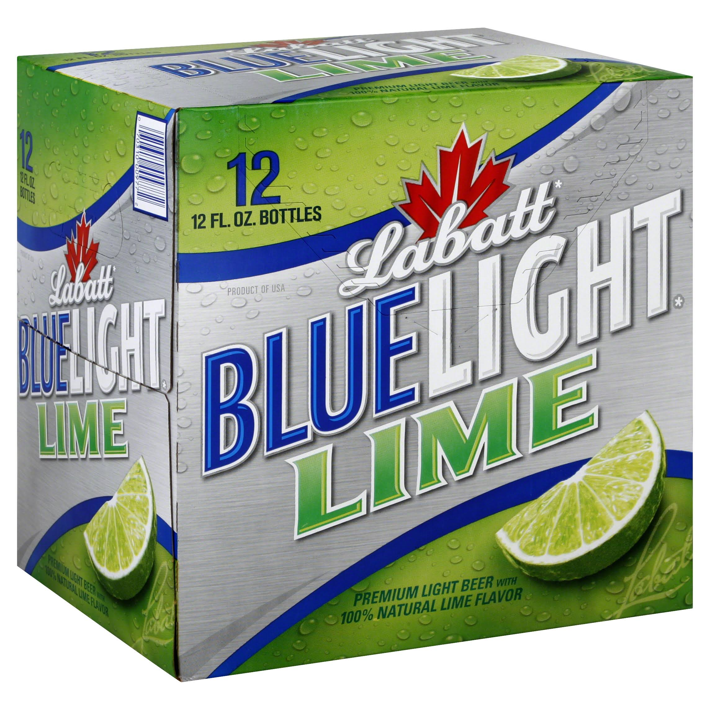 Labatt Blue Light Lime Beer - 12oz, 12 Pack
