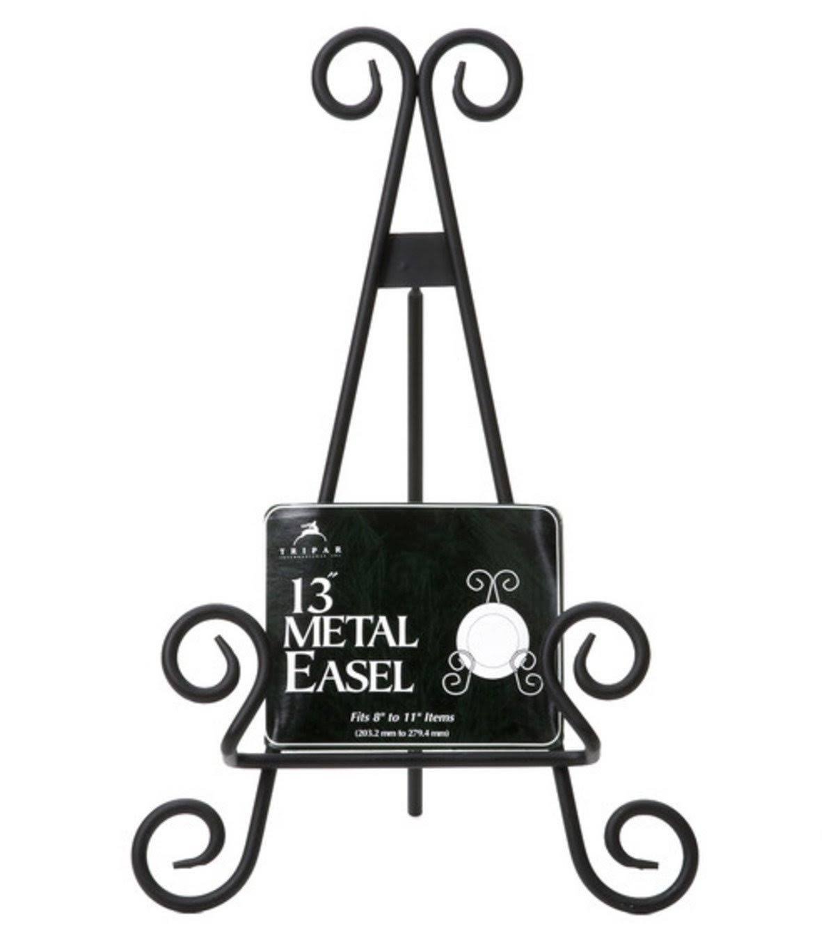 Tripar Metal Display Easel - Black, 13""