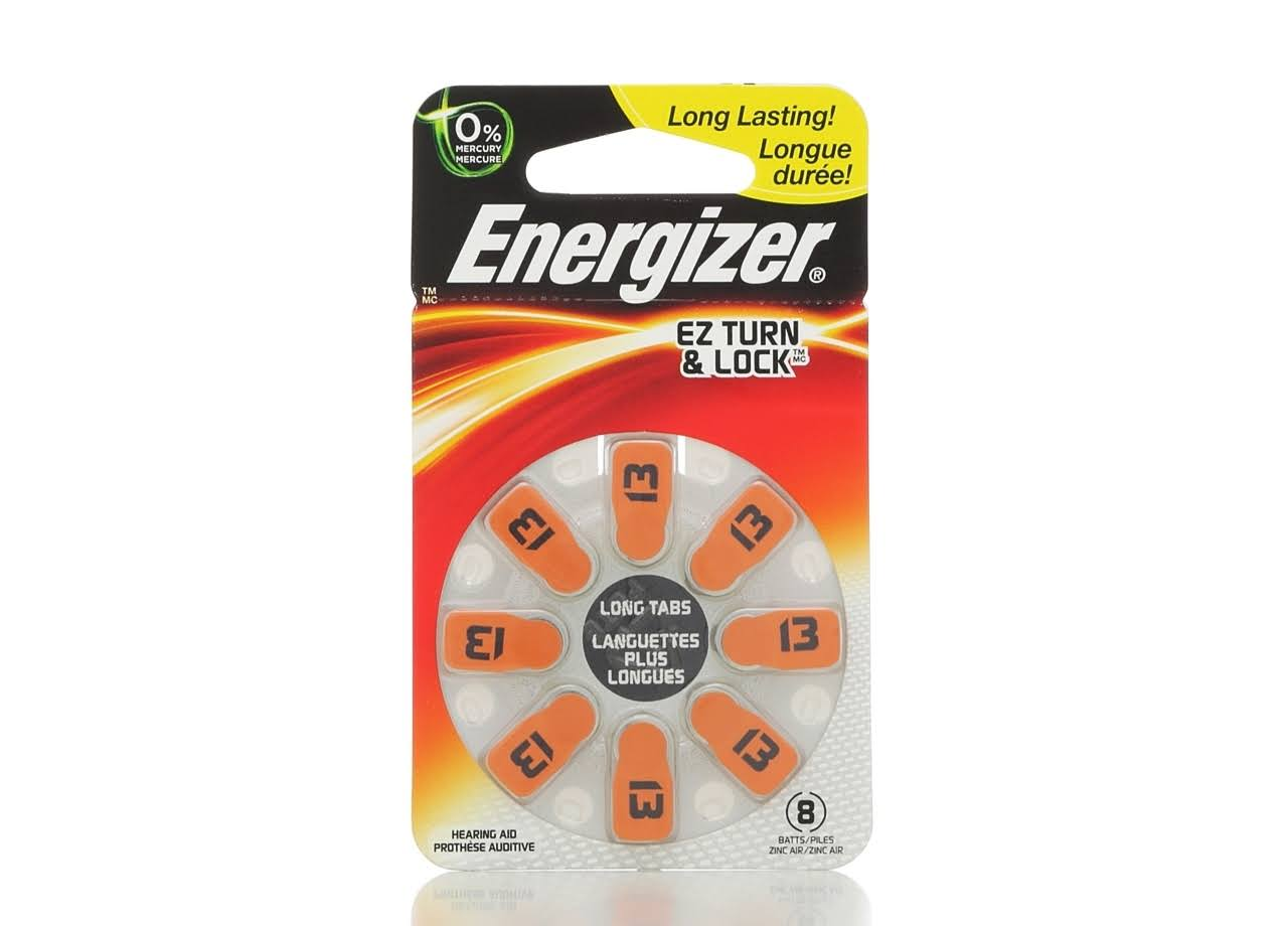 Energizer EZ Turn & Lock + PowerSeal Zinc Air Hearing Aid Batteries - 8pk