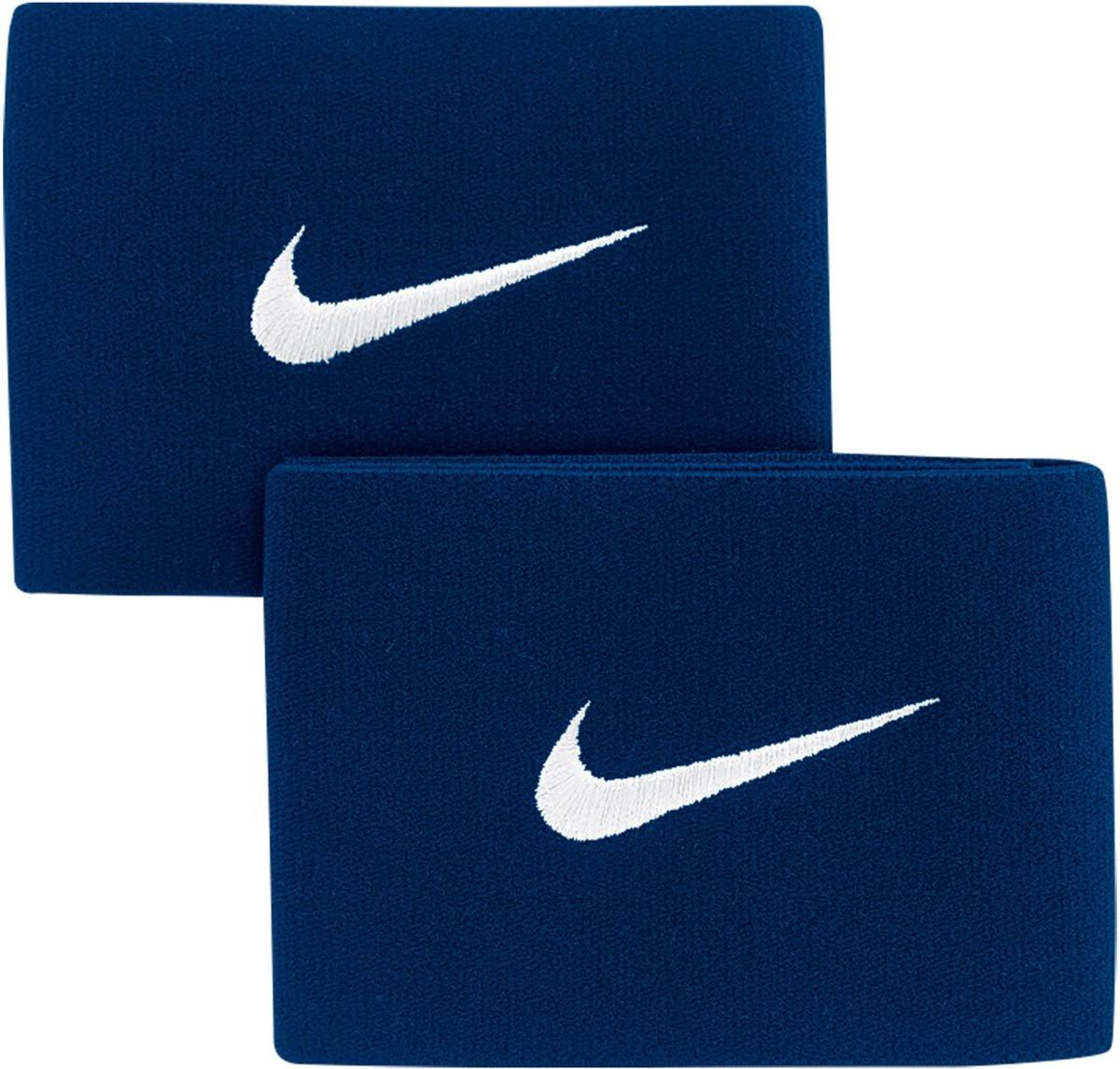 Nike Guard Stay 2x Stretch Football Sport Shin Pad Holder - Navy and White