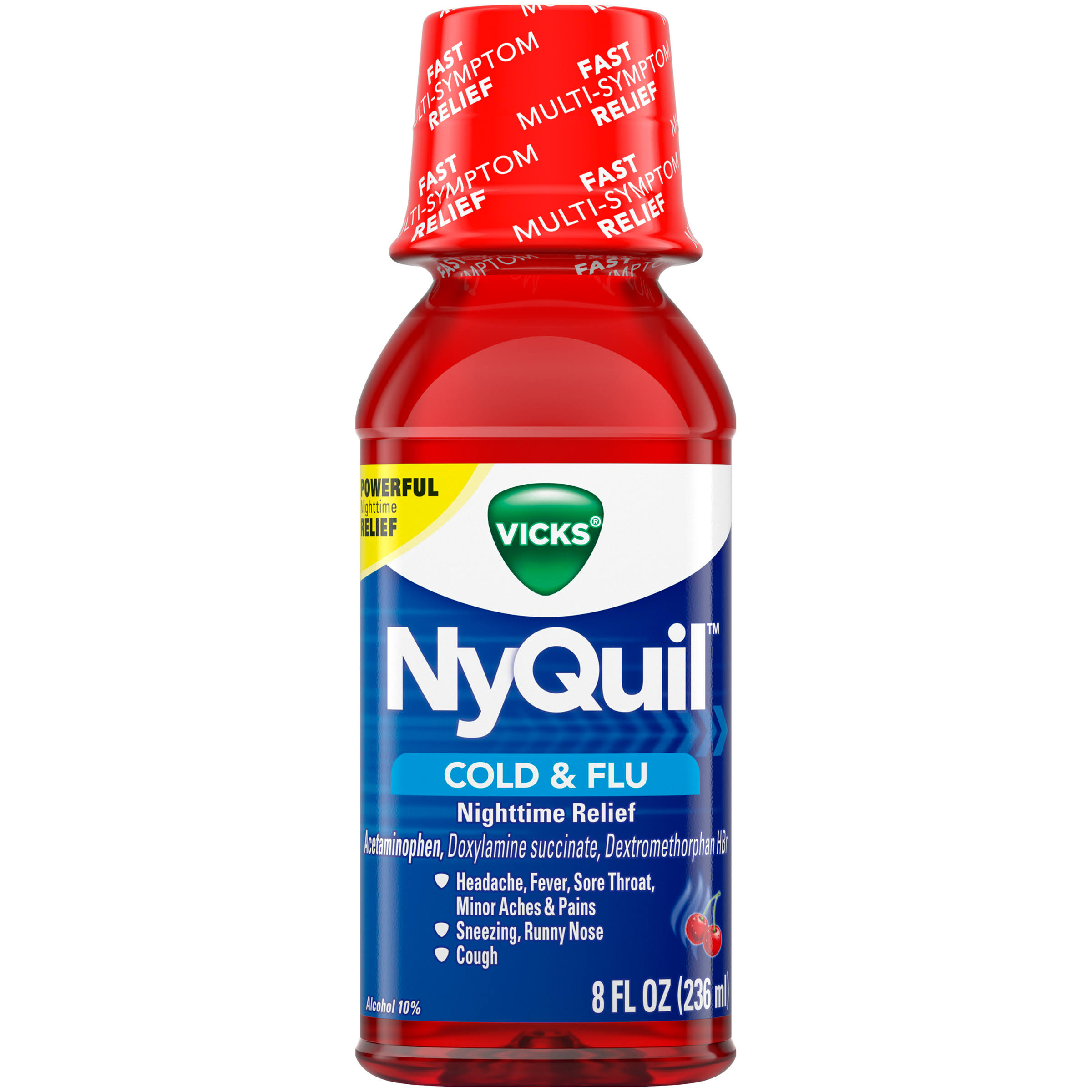 Vicks NyQuil Cold & Flu Nighttime Relief - 8 fl oz