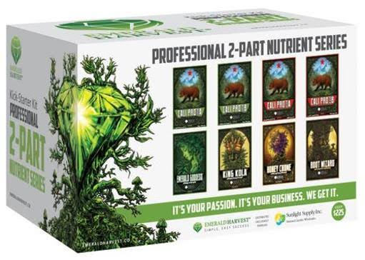 Emerald Harvest Plant Nutrient Kick Starter Kit - 2 Part Base