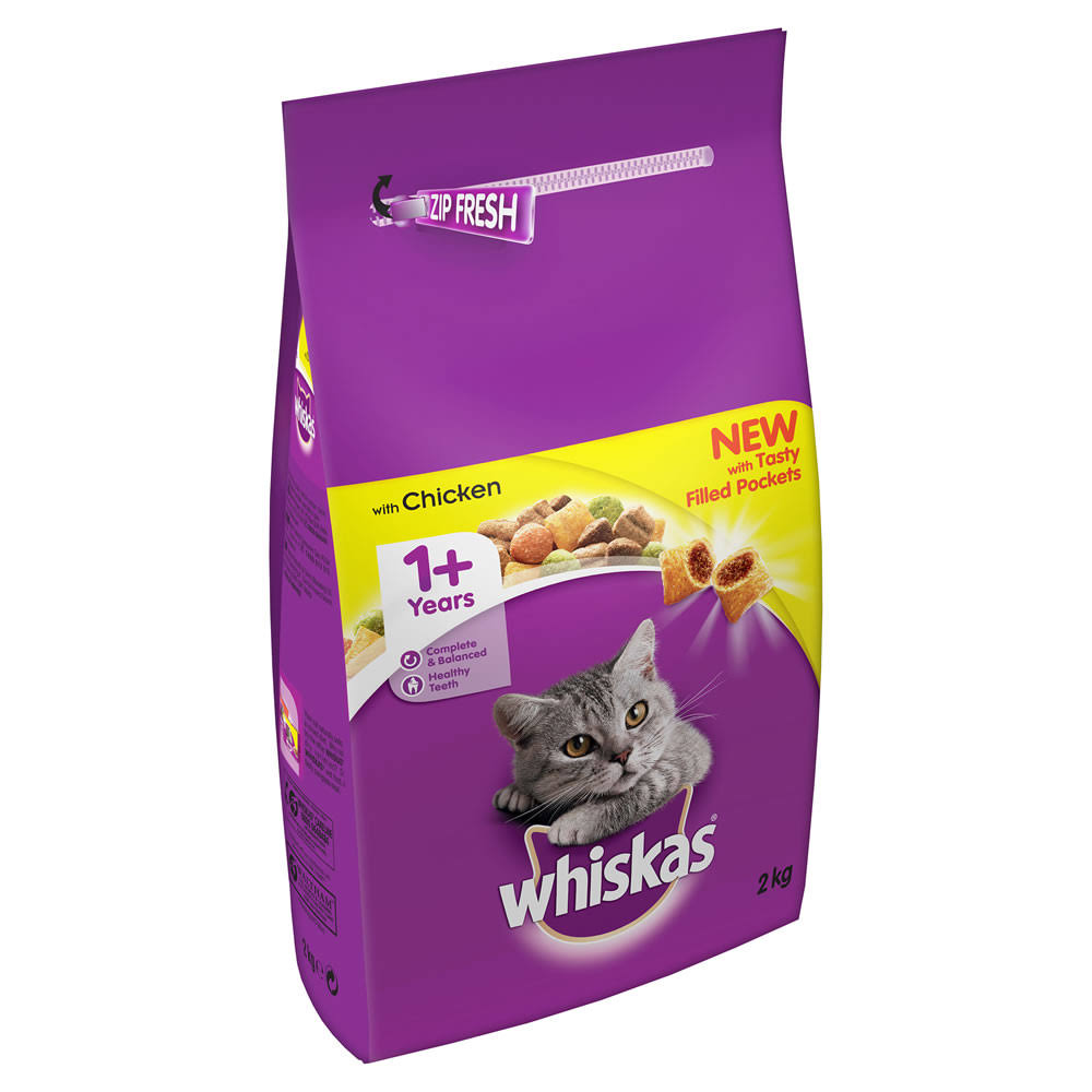 Whiskas Cat Complete Dry Food - with Chicken, 2kg