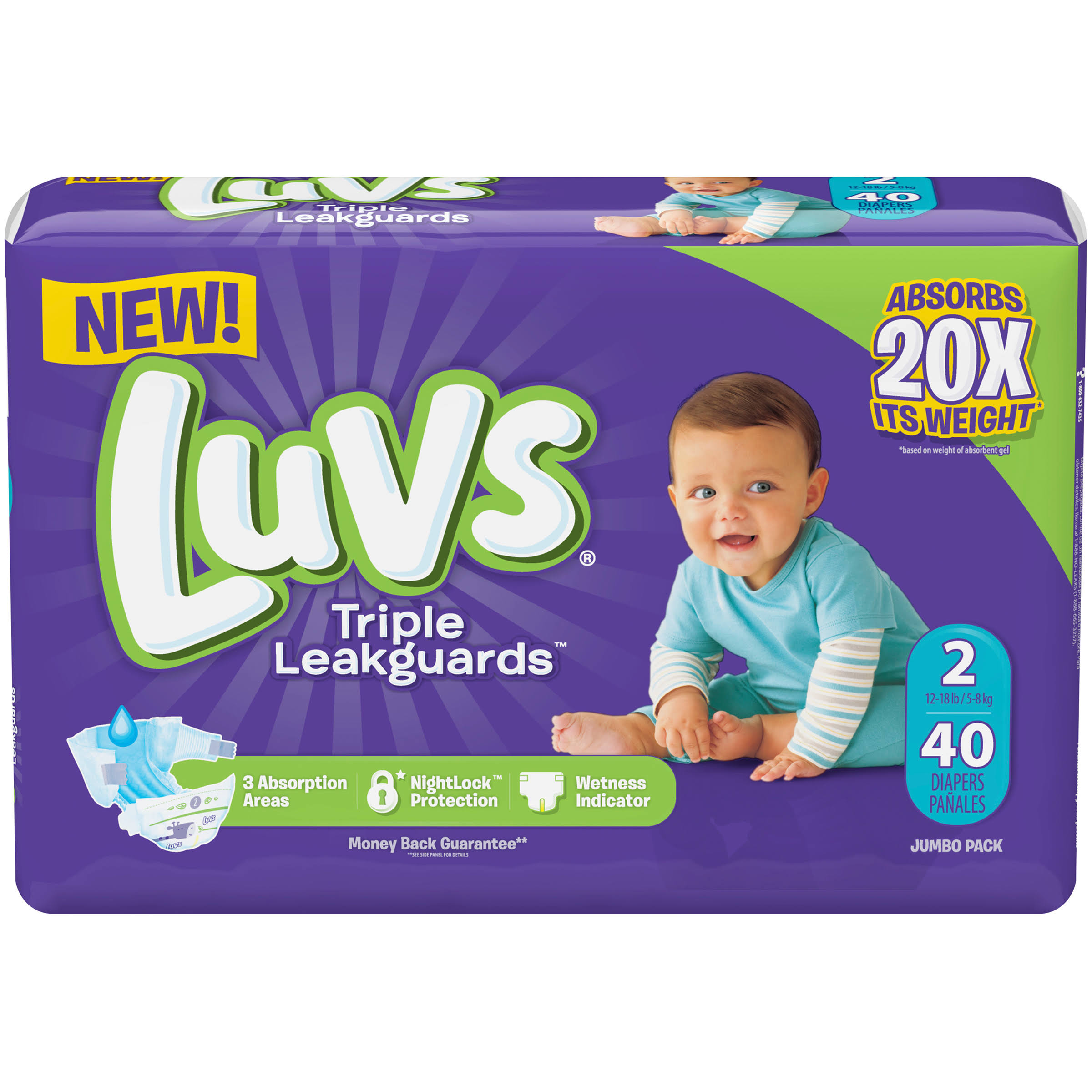 Luvs Ultra Leakguards Diapers - 40 Count, Size 2