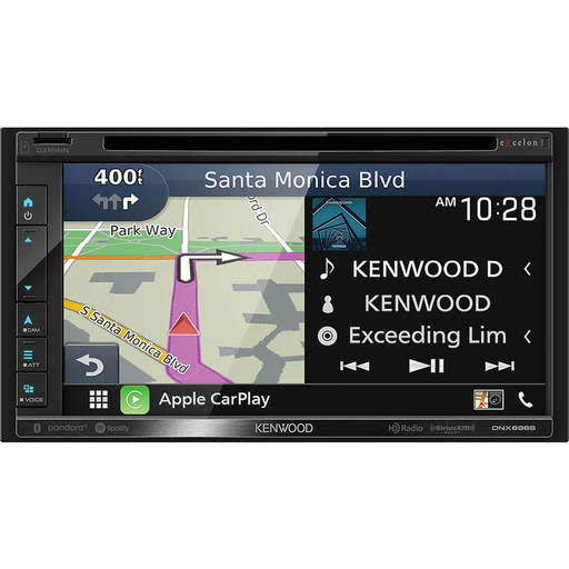 Kenwood Excelon Garmin Navigation DVD Receiver with Bluetooth and HD Radio - 6.8""