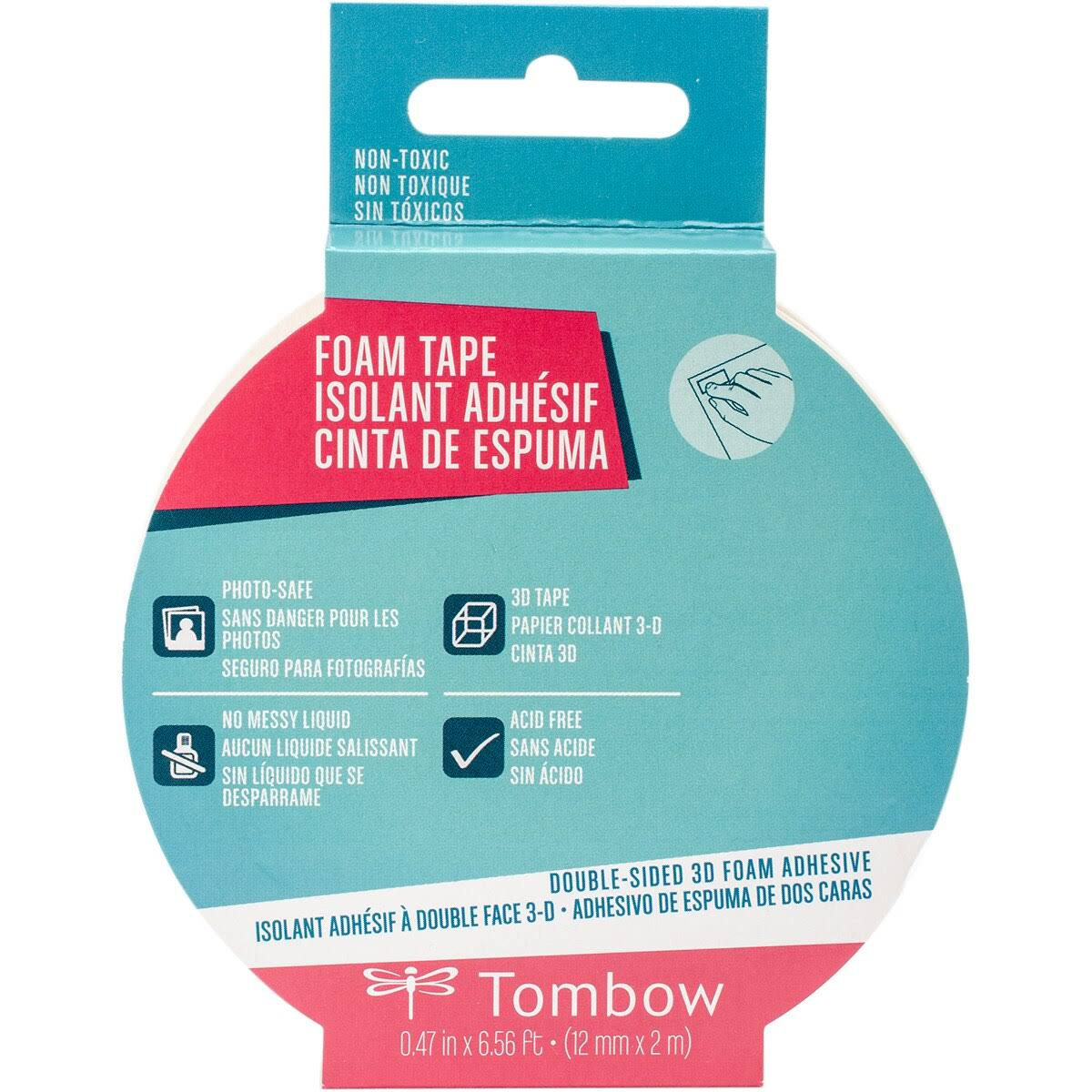 "Tombow Double-Sided 3D Foam Tape-White .47""X6.56'"