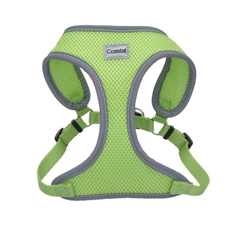 "Coastal Pet Comfort Soft Reflective Wrap Adjustable Dog Harness - Lime Small - 19-23"" Girth - (5/8"" Straps)"