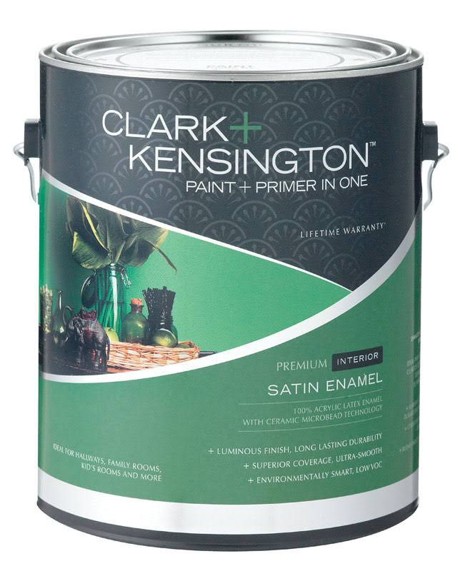 Clark + Kensington Interior Paint and Primer in One, Satin Enamel - 1 gal can