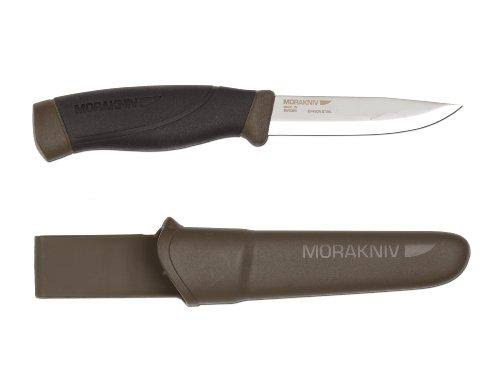 Morakniv Mora Fixed Blade Knife - Green, 3.2mm Thick Blade