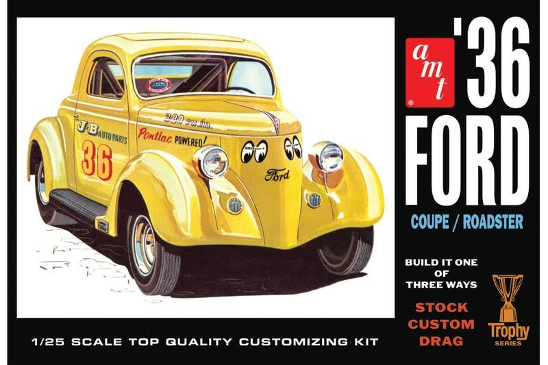Amt824 AMT 1 25 1936 Ford Coupe Model Kit