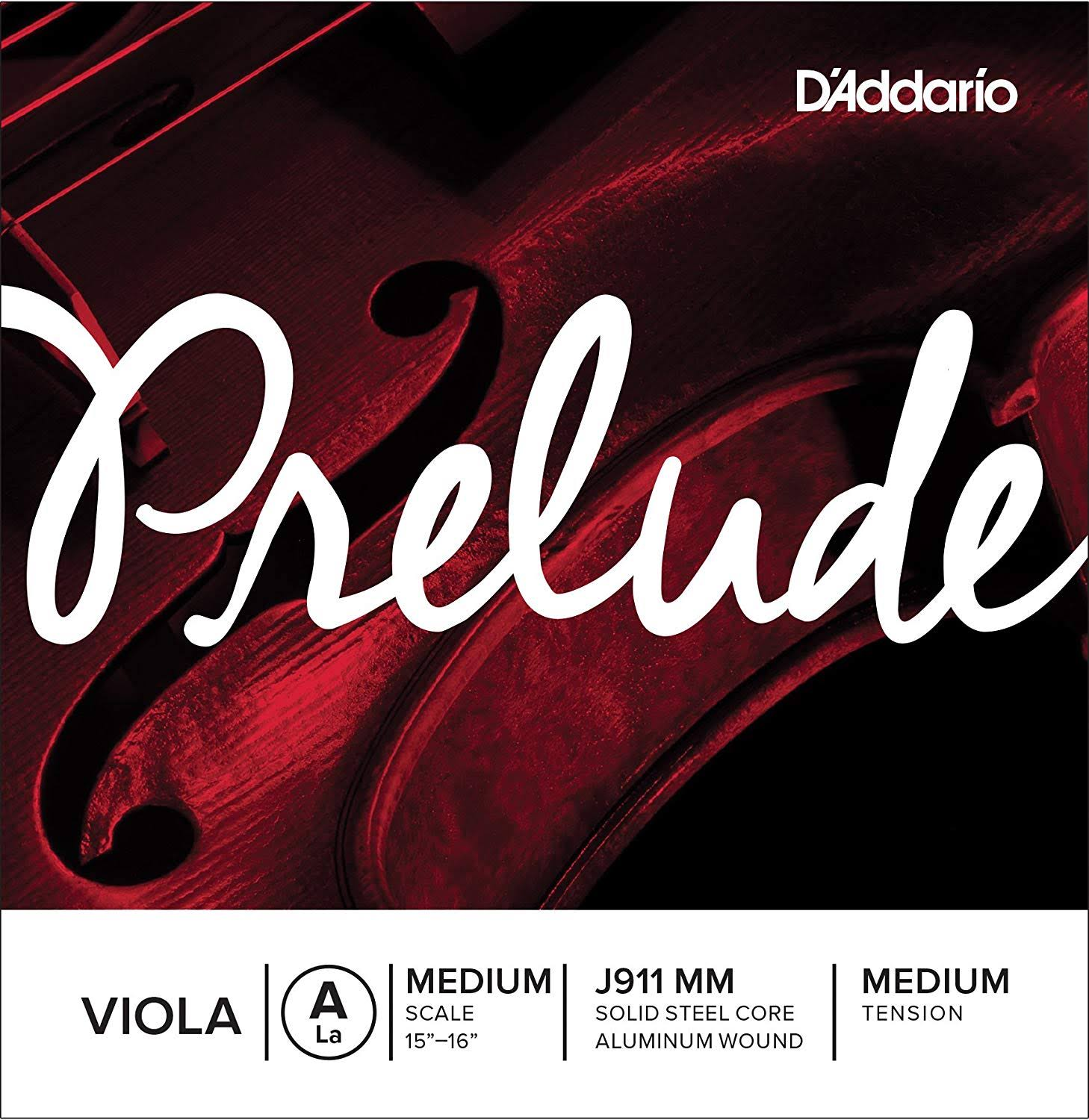 D'Addario Prelude Viola Single A String - Medium Scale, Medium Tension
