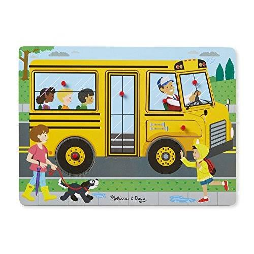 Melissa & Doug - The Wheels on The Bus Sound Puzzle