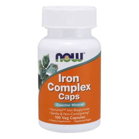 Now Foods Iron Complex - 100 Veg Capsules