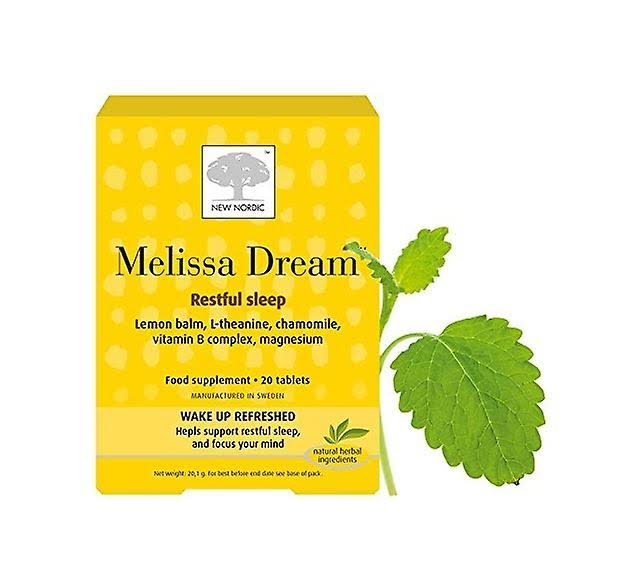 New Nordic Melissa Dream Food Supplement - 20 Tablets
