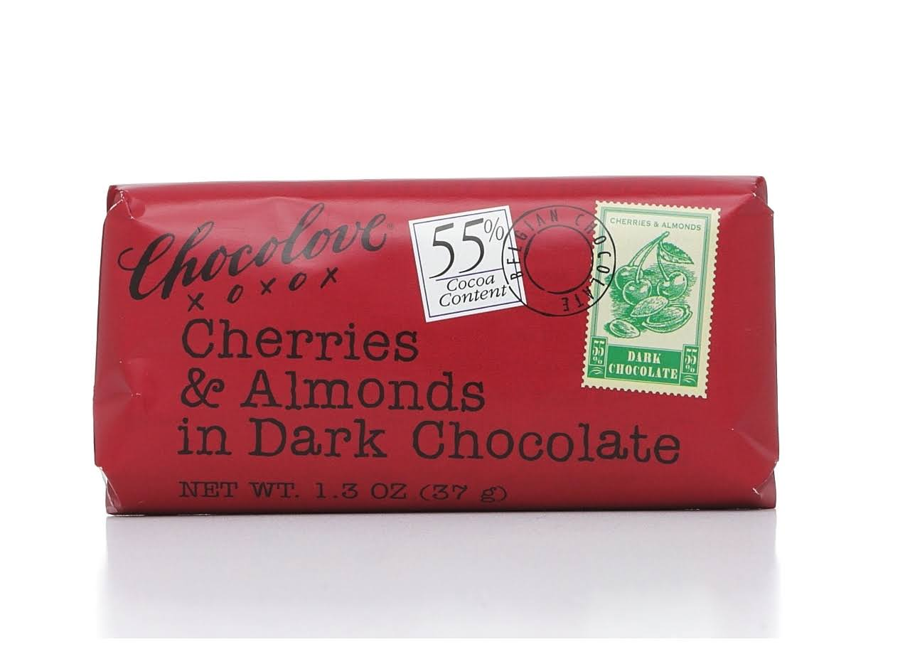 Chocolove Dark Chocolate, Cherries & Almonds - 1.3 oz