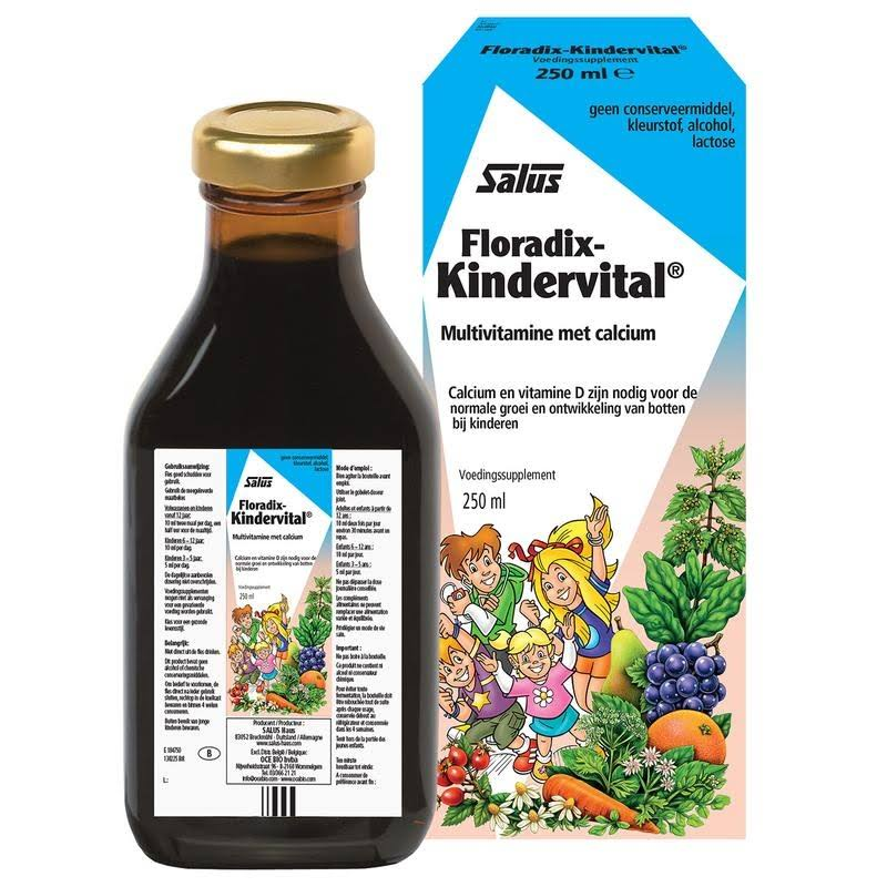 Floradix Kindervital Children's Liquid Calcium and Vitamin Formula - 250ml