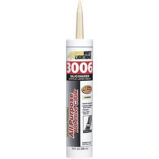 White Lightning Caulk Adhesive - Almond, 10oz