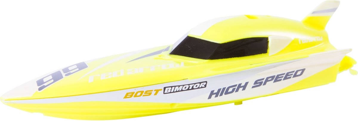 HQ Kites & Designs USA Invento RC Mini Race Boat, Yellow