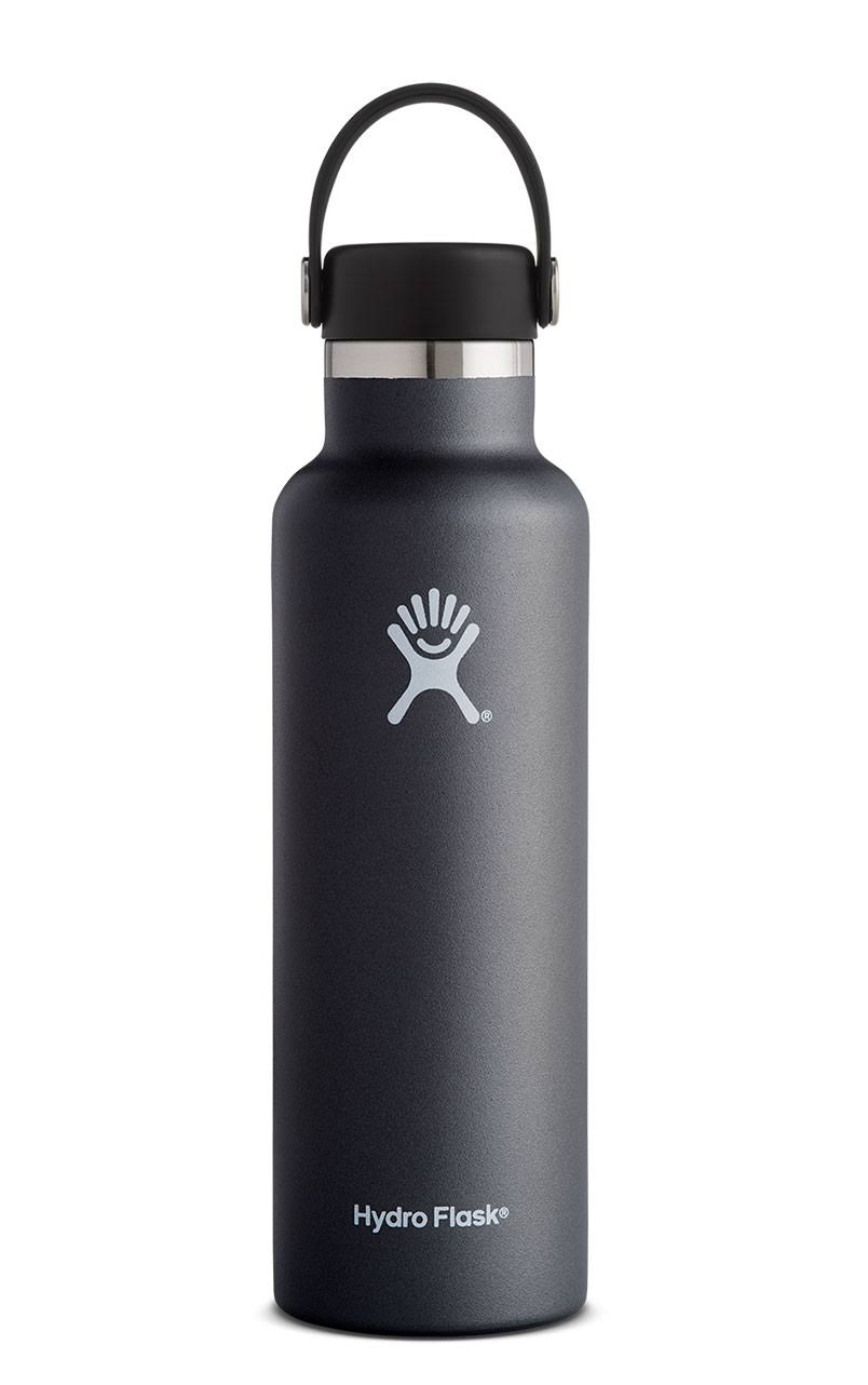 Hydro Flask Insulated Bottle Standard Mouth - Black, 21oz