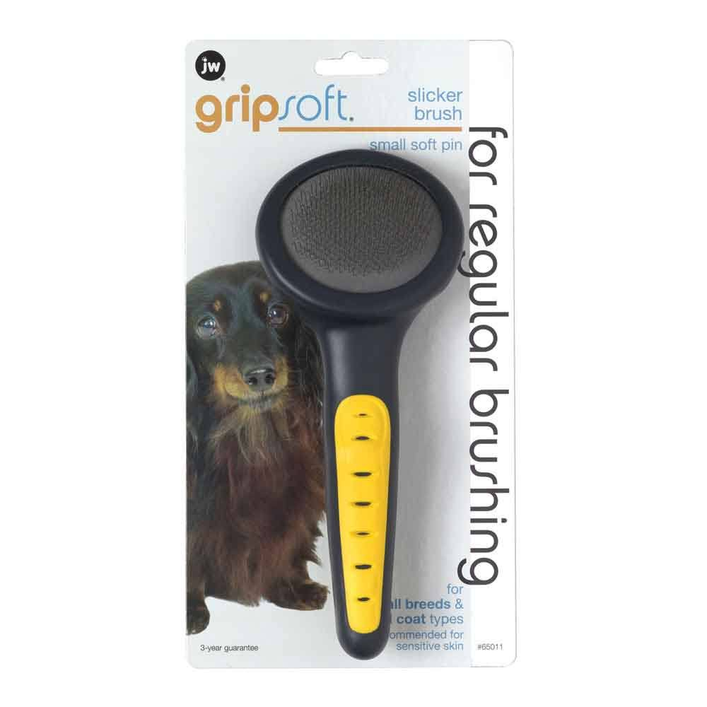 JW Pet Company GripSoft Slicker Soft Pin Dog Brush - Small