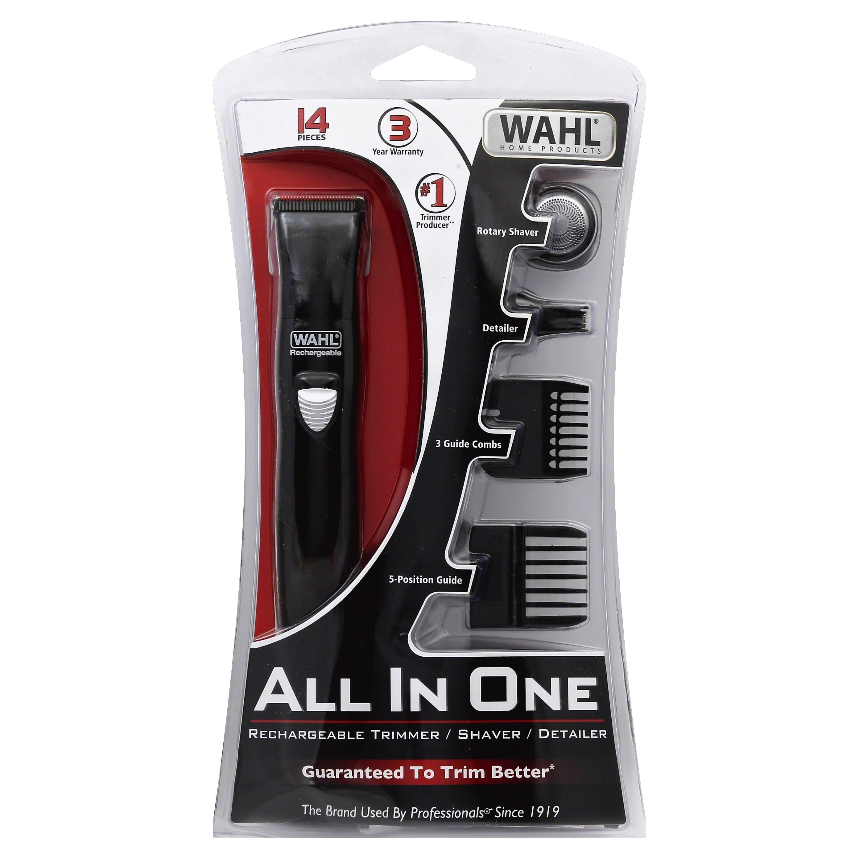 Wahl 9865-1301 All in One Rechargeable Groomer - Black