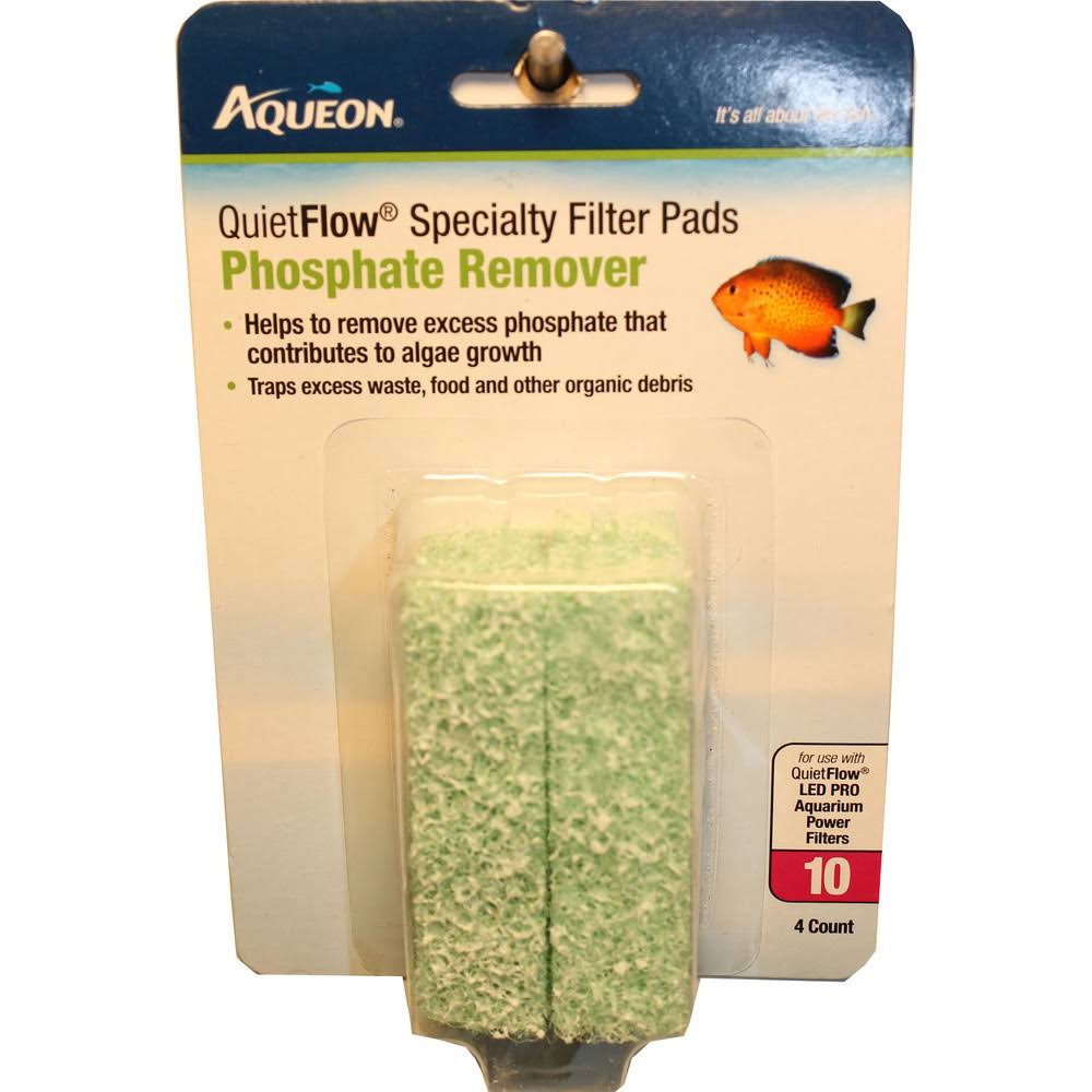 Aqueon QuietFlow 10 Specialty Filter Pad - 4ct