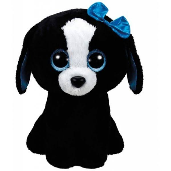 Ty Beanie Boos Dog Stuffed Animal - Tracey, Black and White, Large, 16""