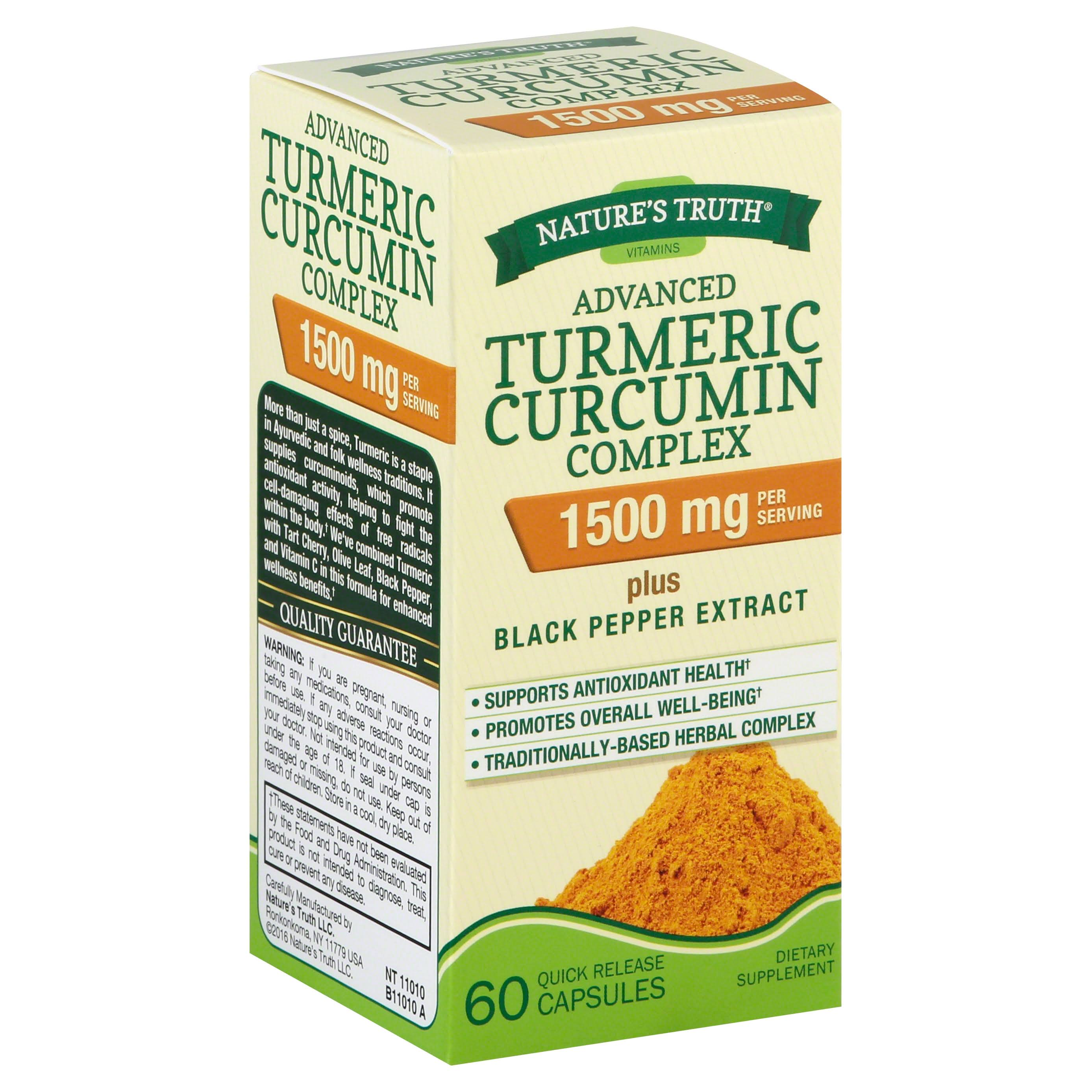 Nature's Truth Turmeric Curcumin Advanced Complex - 60ct
