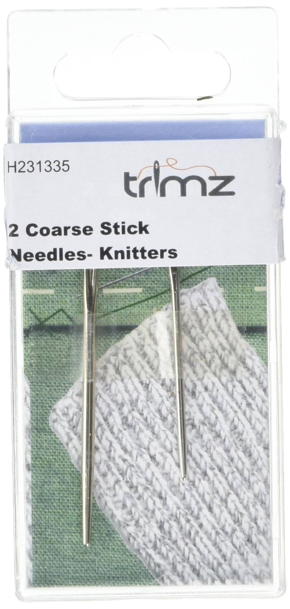 TSL 2 Knitting Needles, Metal, Silver, 10.5 x 5 x 0.5 cm