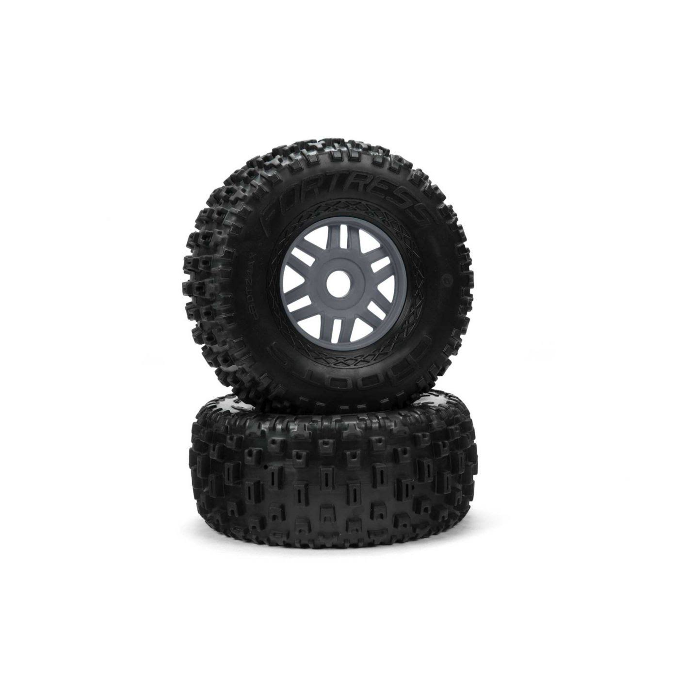 Arrma dBoots 'Fortress' Tire Set Glued - Gun Metal ARA550069