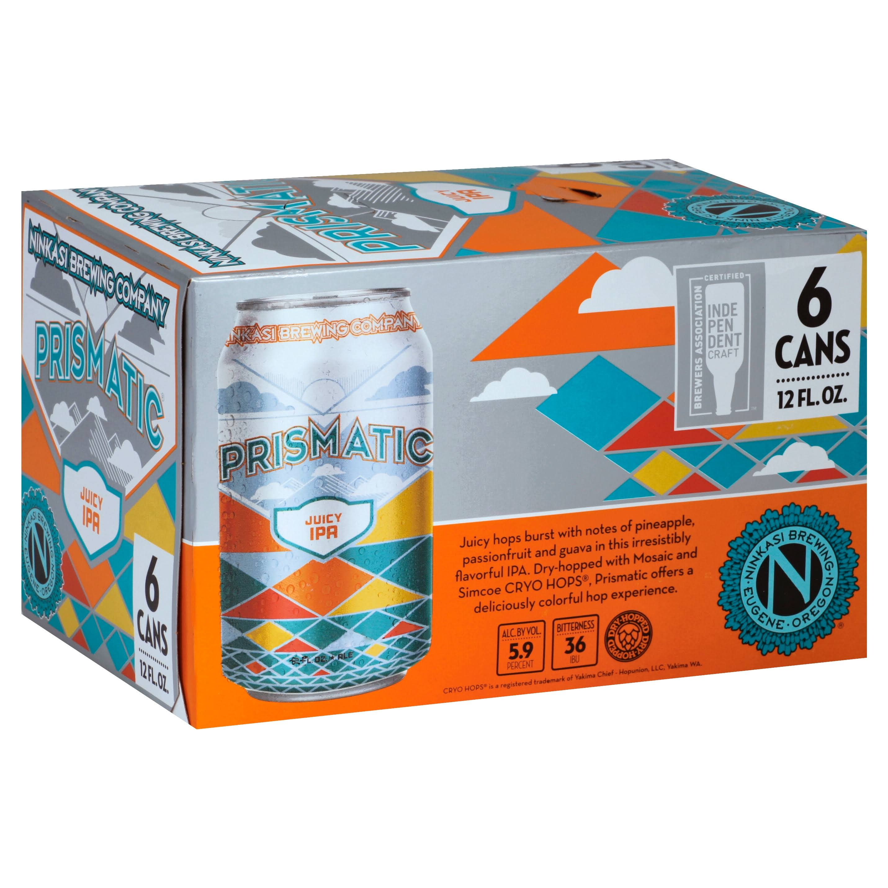 Ninkasi IPA, Juicy, Prismatic - 6 pack, 12 fl oz cans