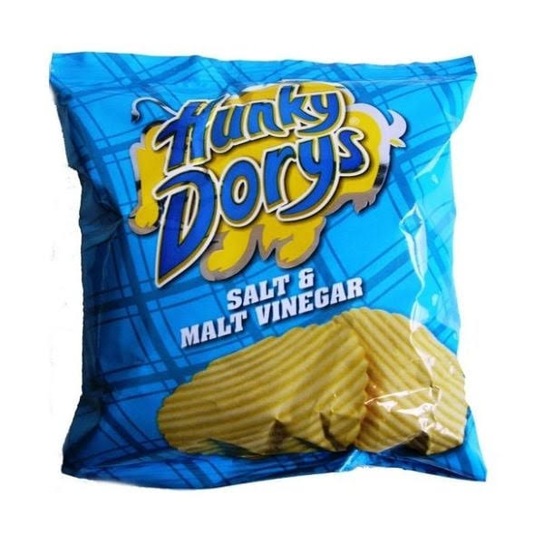 Hunky Dorys Crisps - Salt and Malt Vinegar, 45g