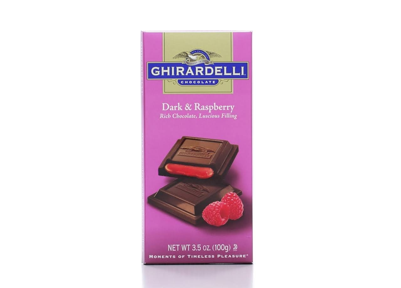 Ghirardelli Chocolate - Dark & Raspberry, 100g