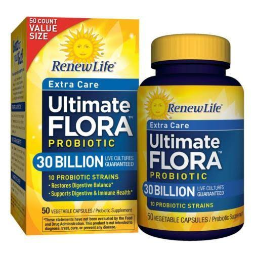 Relife Extra Care Ultimate Flora Probiotic Supplement - 50ct
