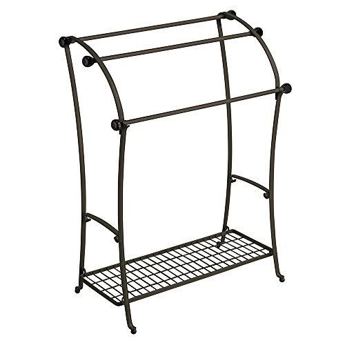 Interdesign Bronze York Lyra Floor Towel Stand